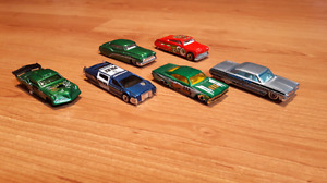 Group 8. Six low rider Hot Wheels.