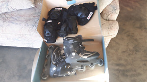 K2 Rollerblade  set complete with knee pads , elbow  pads