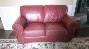 Leather couch and love seat  for sale