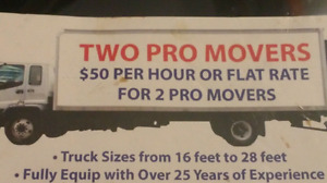 $30 TWO PRO MOVERS