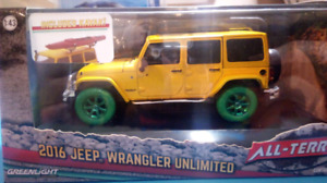 Greenlight green machine 1/43 2016 Jeep Wrangler Unlimited