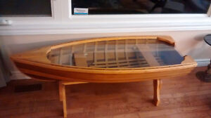 GIESLER BROTHERS CEDAR BOAT COLLECTORS COFFEE TABLE.