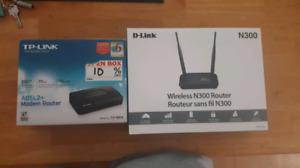 Routeur sans fil d-link et modem adsl2 tp link NEUF