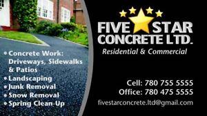 FIVE STAR CONRETE LTD - CALL (780) 755-5555