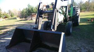 Tractor & baler