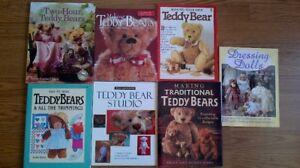 6 Books on Making Teddy Bears, 1 on Dressing Dolls, for $5 each