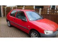 Peugeot 106 Hatchback 3 door red