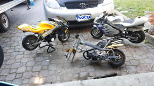 Wanted- pocket bikes/atv/dirt bikes in need of repair