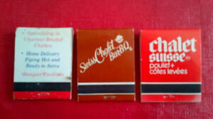 Matchbook Covers-Swiss Chalet Bar-B-Q Kitchener / Waterloo Kitchener Area image 2