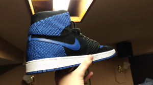 Nike Air Jordan 1's, Flyknit, Royal Blue