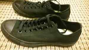 Converse all black size 9 men's or 11 womens