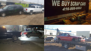 SCRAP JUNK CAR REMOVAL , TOP CASH GUARANTEED & FREE TOW 24HR