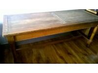 Antique oak church refectory table