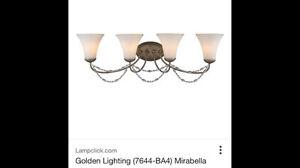 4 light bathroom light fixture by Golden Lighting Oakville / Halton Region Toronto (GTA) image 1