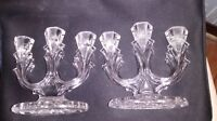Vintage Crystal Candle Holders