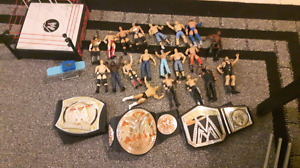 20 wrestlers, Wrestling ring ,belts and a few accessories