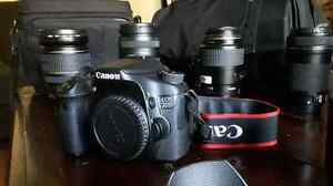 Canon 70D w 17-55mm & 6 other lenses