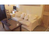 Cream sofa couch!