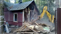 Demolition-Ramassage de debris de construction 514-262-7275
