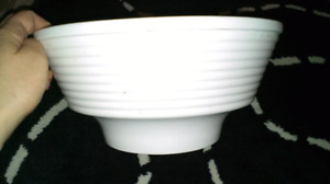 White Ceramic Flower Pot / Bowl