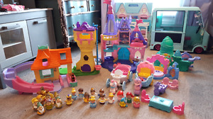 Extensive collection of little people princesses