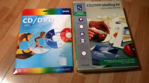 CD DVD Labelling materials (value over $40)
