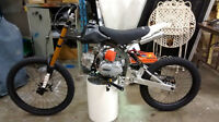 124cc Motoped Pro, 4spd semi-auto, Gas Bicycle