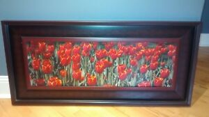 Large framed Red Tulips St. John's Newfoundland image 1