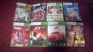 Xbox 360 games assortment for sale