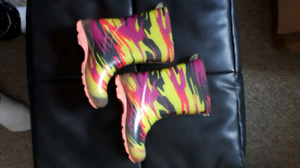 Toddler size 7 sandals & rain boots