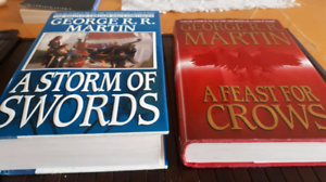 Asoiaf books A feats for crows and a storm of swords first Ed.
