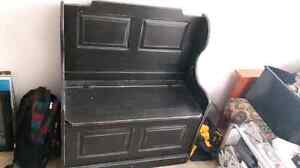Black stain hutch/storage