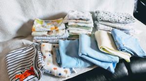 Baby fleece, cotton & receiveing blankets