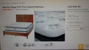 MATTRESS (QUEEN) - Brand New Hybrid Mattress - $399 (Port Moody)