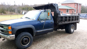 99 Chev one ton with dump