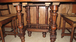price reduced Antique Gothic dining table & 4 chair from Belgium Edmonton Edmonton Area image 2