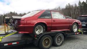 1990 mustang drag car