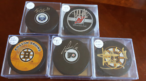 Autographed hockey puck