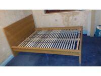 IKEA Kingsize - Oak veneer Malm high bed frame