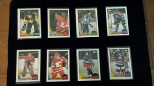 80s hockey cards, Lemieux, Roy, Yzerman, etc.