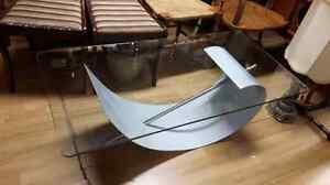 Designer Coffee Table with Tempered Glass West Island Greater Montréal image 1