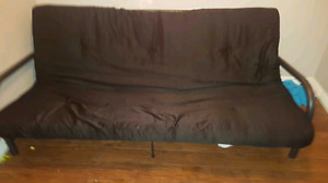Black metal framed futon $100 obo