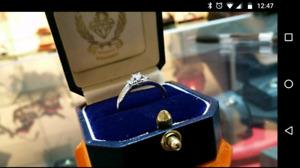 10K Gold 3 Stone Engagement Ring