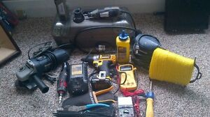 Random power tools up for sale.