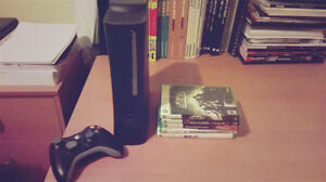 XBOX 360 (120 GB) w/ 5 games and 1 controller - 50$ !