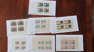 Sort # : 907 - timbres du canada en bloc