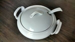 BIA Cordon Bleu white porcelain soup tureen with ladle $25