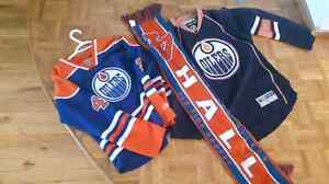Oilers jerseys and scarf