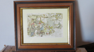 2 Framed Anton Pieck Pictures for Sale