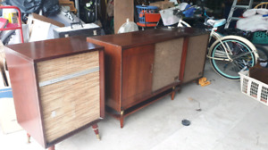 Vintage record player cabinet stereo